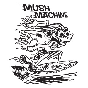 Roberts Surfboards Mush machine Logo